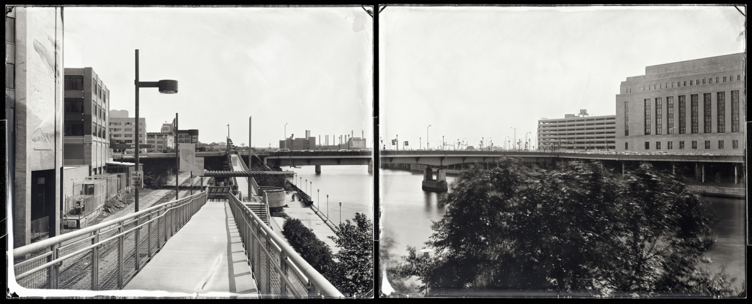Michael Kolster Schuylkill River (PA) ambrotype diptych