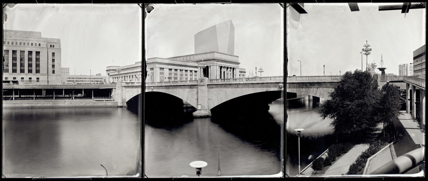 Michael Kolster Schuylkill River (PA) ambrotype triptych