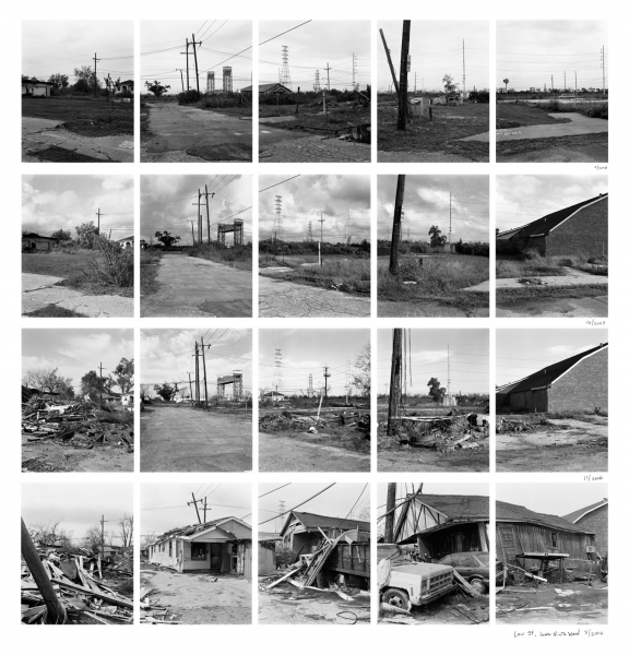 New Orleans Law Street, Lower 9th Ward, New Orleans, top to bottom: 2008, 2007, 2006 (Nov) and 2006 (Mar)