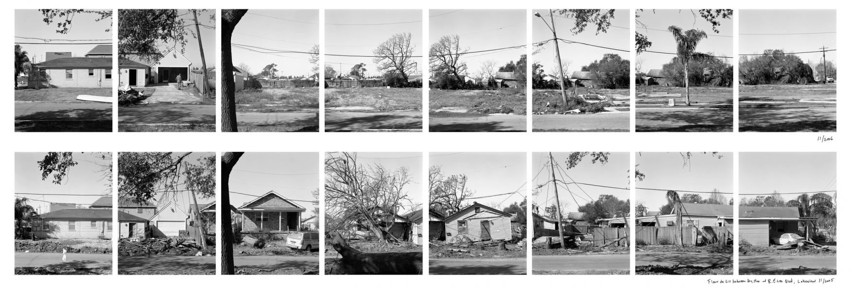 New Orleans Fleur de Lise Blvd., Lakeview, 2006 (above) and 2005 (below)