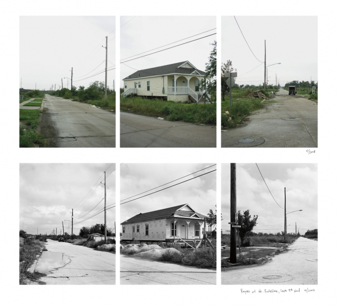 New Orleans Reynes at No. Rocheblave, Lower 9th Ward, 2008 (above) and 2007 (below)
