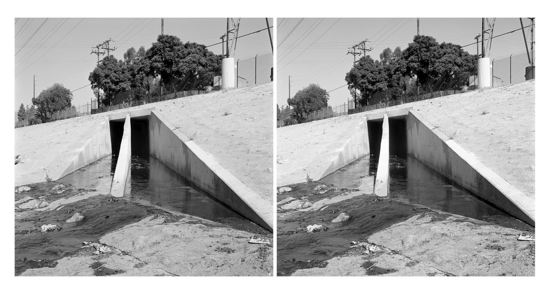 Stereo Pairs Water Treatment Outflow, Los Angeles River (CA)