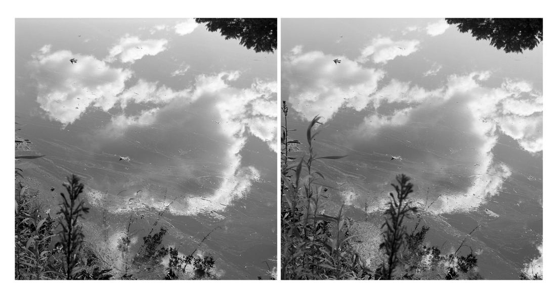 Stereo Pairs Clouds Reflection, Lisbon, Androscoggin River (ME)