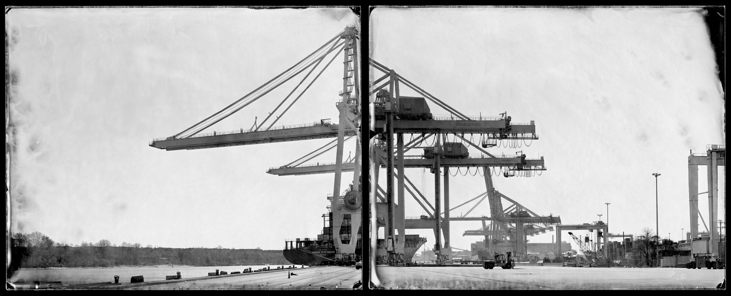 Michael Kolster Savannah River (GA/SC) two ambrotypes
