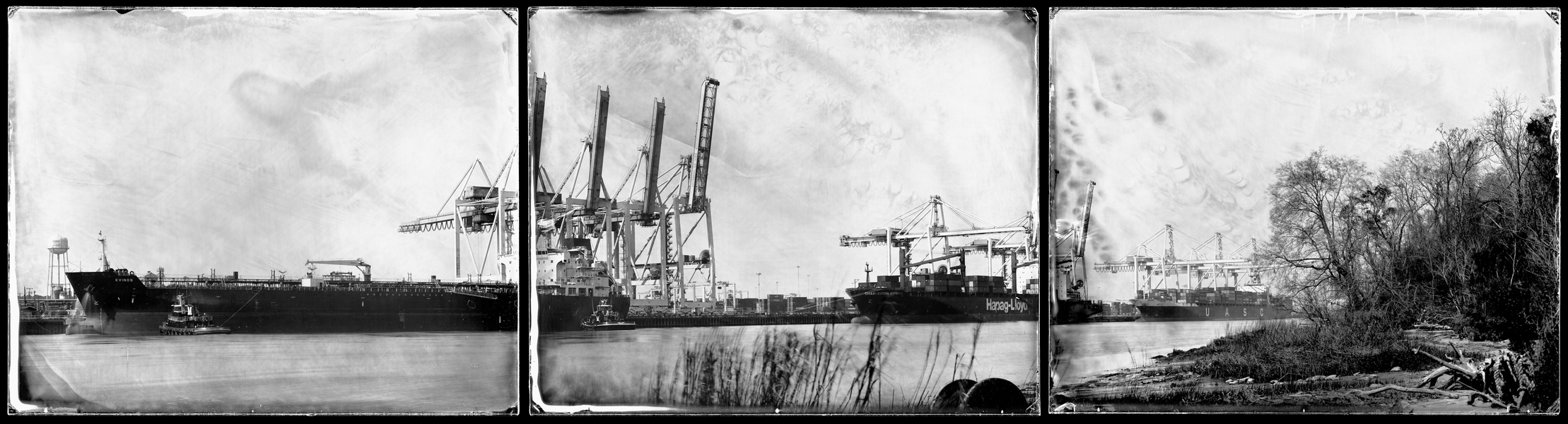 Michael Kolster Savannah River (GA/SC) three ambrotypes