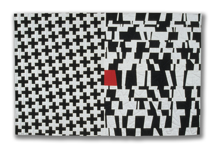 Michael James Studio Quilts Selected work 1985 - 1999 cotton & wool; machine- and hand-stitched