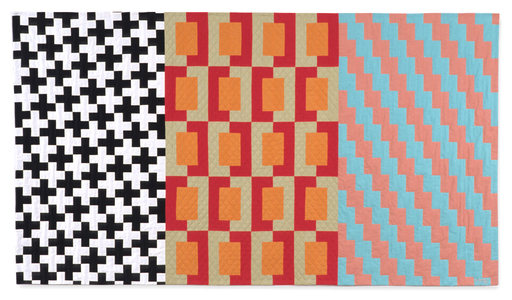 Michael James Studio Quilts Selected work 1985 - 1999 cotton & wool; machine- and hand-sewn