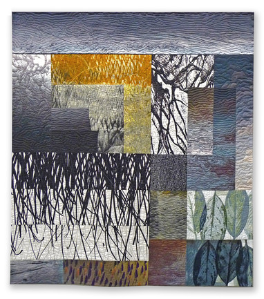 Michael James Studio Quilts Ambiguity & Enigma cotton, dyes, pigment