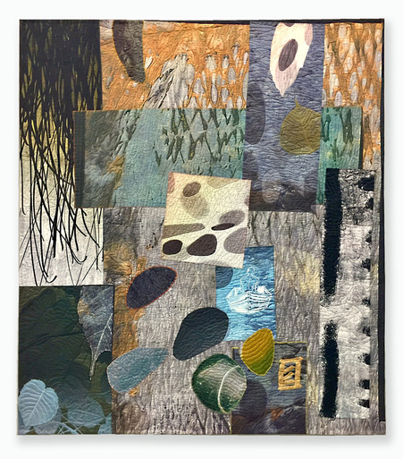 Michael James Studio Quilts Allegories mixed media