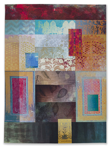Michael James Studio Quilts India Through Beginner's Eyes cotton, reactive dyes, pigment; machine-stitched