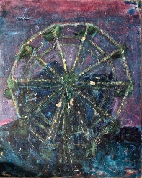 "PAINTINGS OIL ON CANVAS ""The Wheel"""