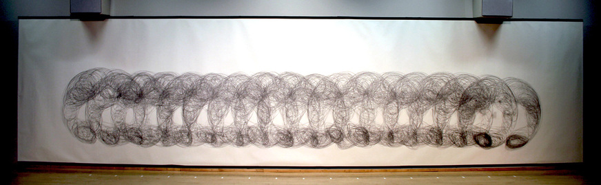 MICHAEL NAMKUNG Three by Sixteen and Eight by One graphite on paper