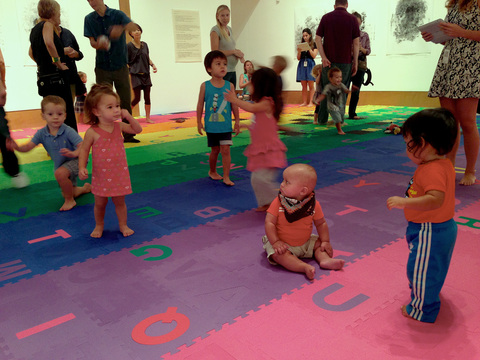 MICHAEL NAMKUNG Baby Flash Mob Frost Art Museum