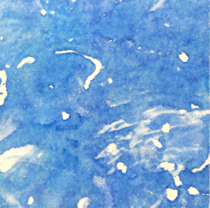 Monotypes on Panel Star Chart #2