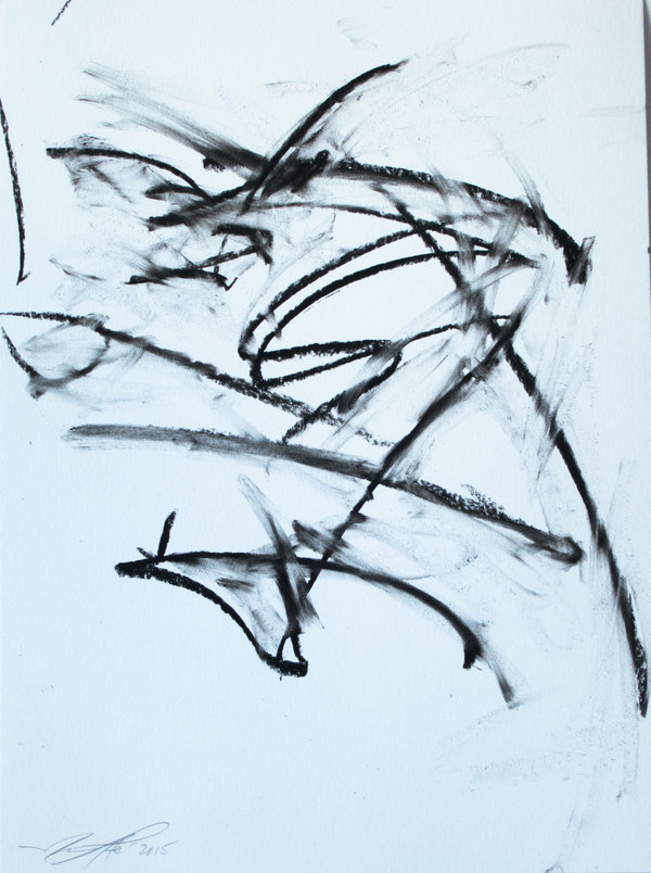 Soul Junk - Drawings - Joule Meditations - States of Mind Charcoal on Paper