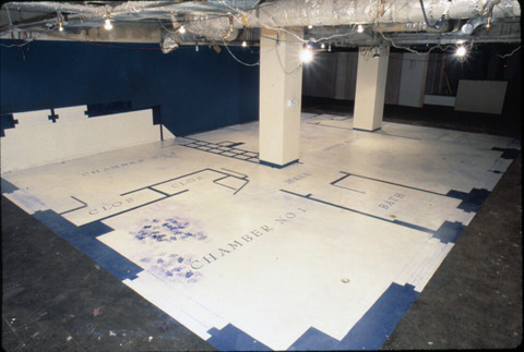 Micki Watanabe Spiller floorplans paint on concrete