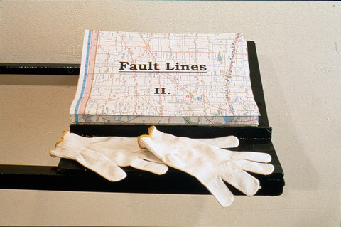 Micki Watanabe Spiller Fault Lines collaged road maps