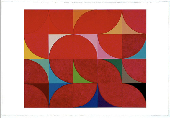 "Mie Kongo 2006 - Quarter red circles 22""x30"""