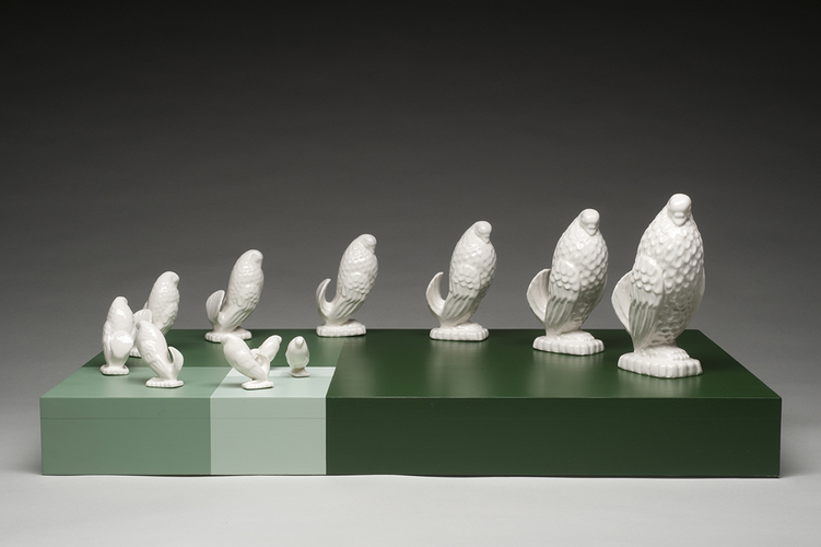 Mie Kongo 2008 - Bird_forever Porcelain, playwood, latex paint