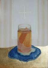 ST. LUKE ART STUDIO  Paintings oil egg tempera ,gold,on wood panel