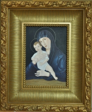ST. LUKE ART STUDIO HOLY IMAGES oil egg tempera on wood panel