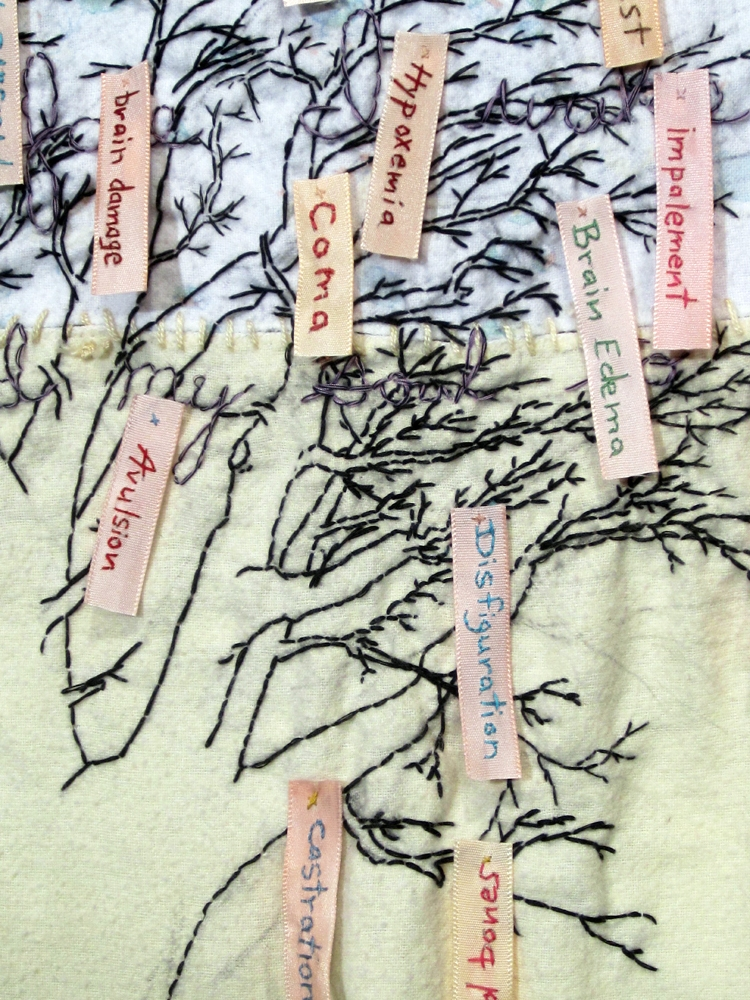Embroidery: Try Harder -  2010 to present  Gifts From God, #2,  detail
