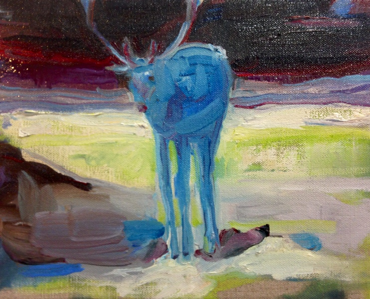 endless winter blue stag