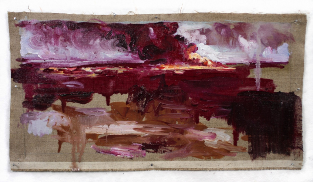 unknown continent oil fire study in magenta