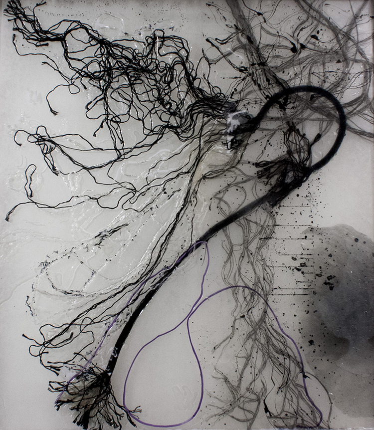 M I R A   L E H R archive resin, nylon, hand drawing, ink, kozo paper