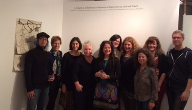 mapspace: miranda arts project space 01/24/15  L/inked Closing Reception