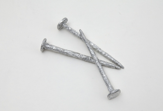 "Metal Sculptures: 3"" nails"