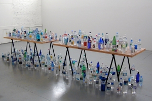 MiYoung Sohn Archive collected bottled water, tables