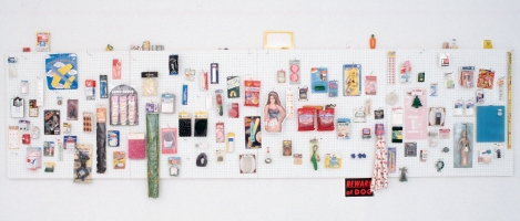 MiYoung Sohn Archive collected items, pegboard