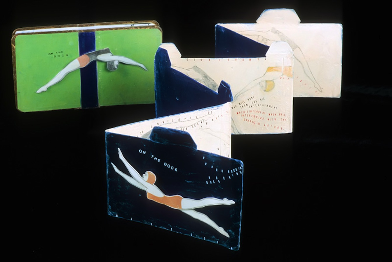 "ARTIST BOOKS ""On the Dock""   Accordion Book     2004"