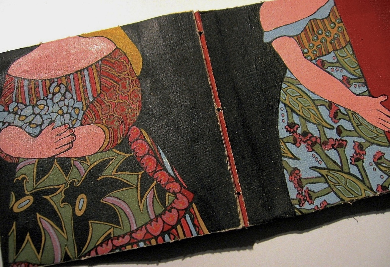 "ARTIST BOOKS ""Flower Girls""     Stab Binding     2008"