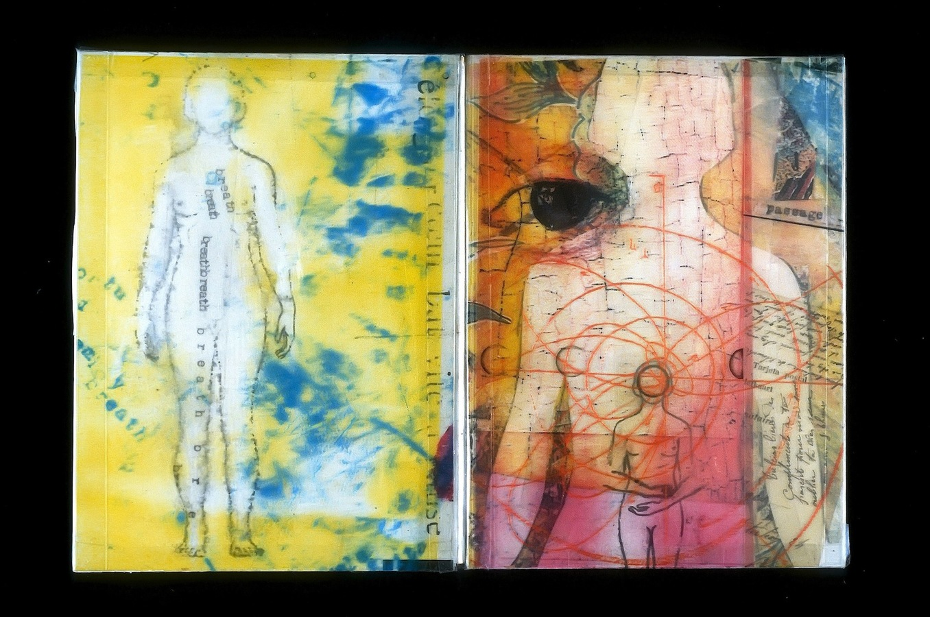 "ARTIST BOOKS ""WITNESS""  Accordion Book     1998"