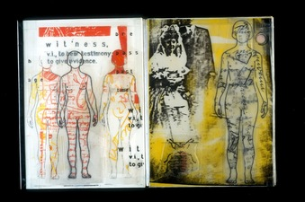 """WITNESS""  Accordion Book     1998"