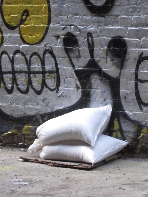 togetherness (ongoing photography) white sacks, chelsea