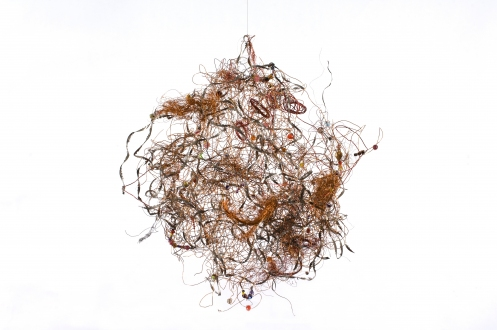 Monica Banks Clouds Wire, found objects