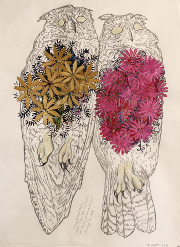 Monique Luchetti Souls of Vertebrate Zoology Pencil, gouache, watercolor on Fabriano paper