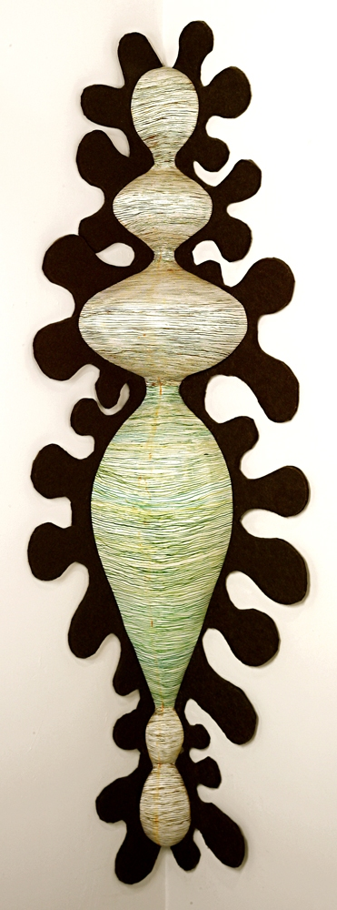 Monique Luchetti Sculpture 2007-2010 Hydrocal plaster, wood, wool felt, gouache