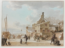 Galerie Nathalie Motter Masselink Notable sales <i>February: Men Cutting Ice on a Frozen Canal</i>
