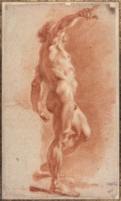 Galerie Nathalie Motter Masselink Notable sales <i>Standing Male Nude with his Right Arm Raised</i>