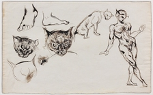 Galerie Nathalie Motter Masselink Notable sales <i>Studies of a Man, Cats and Feet</i>