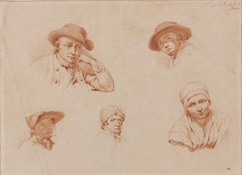 Galerie Nathalie Motter Masselink Northern School <i>Five Head Studies Wearing Hat</i>
