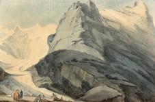 Galerie Nathalie Motter Masselink French School <i>View of the Grindelwald Glacier with the North Face of the Eiger </i>