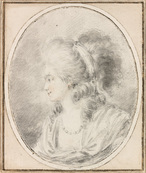 Galerie Nathalie Motter Masselink French School <i>Presumed Portrait of Aimée Louise Chevrau de Moussy</i>