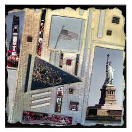 Marjorie Tomchuk Collage embossing with photo collage