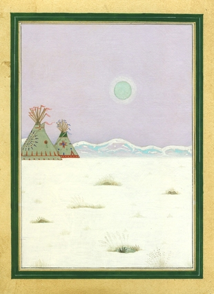 Murad Khan Mumtaz Ghost Nation Opaque watercolor on prepared wasli paper