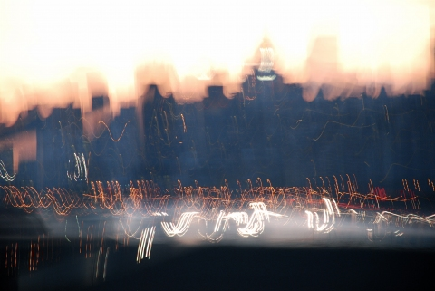 Photography A (shaky) view of Manhattan